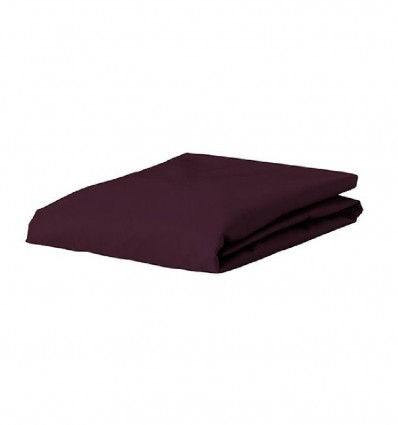 Essenza hoeslaken Satin Burgundy