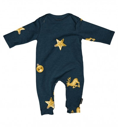 SNURK jumpsuit Christmas Bling Blue Baby's
